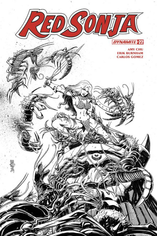 Red Sonja #22 (25 Copy Mandrake B&W Cover)