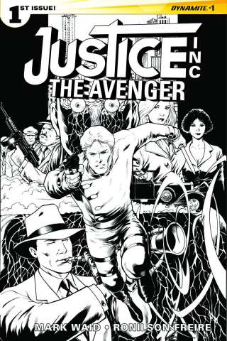 Justice Inc.: The Avenger #1 (15 Copy Kitson B&W Cover)