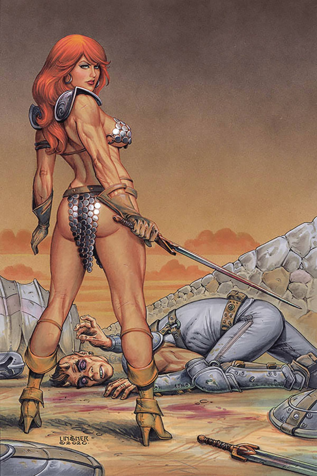 Red Sonja #17 (Linsner Virgin Cover)