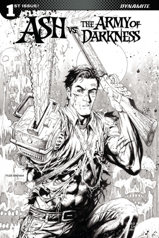 Ash vs. The Army of Darkness #1 (10 Copy Kirkham B&W Cover)