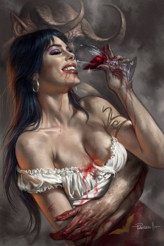 Vengeance of Vampirella #12 (Parrillo Virgin Cover)