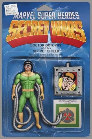 Secret Wars #3 (Christopher Action Figure Cover)