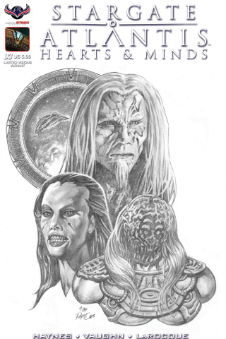 Stargate Atlantis: Hearts & Minds #3 (Dan Parsons B/W Cover)