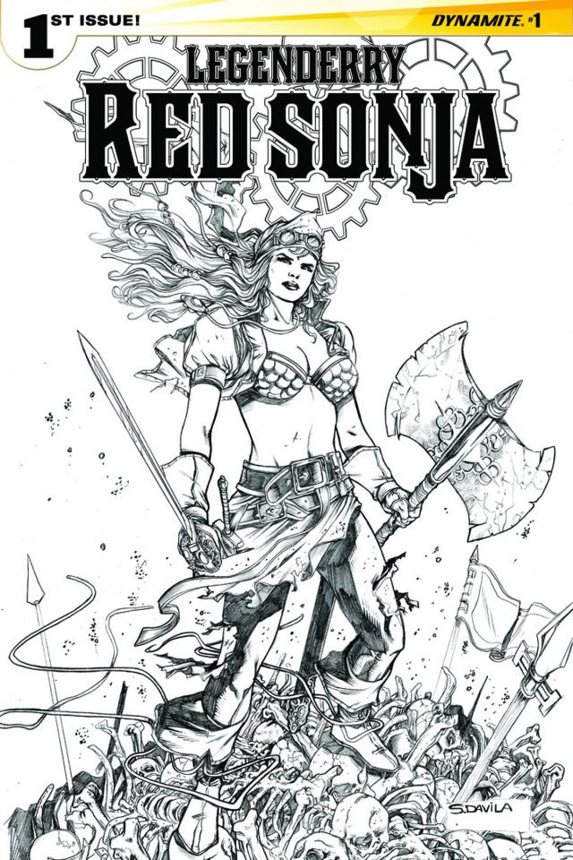 Legenderry: Red Sonja #1 (25 Copy Davila B&W Cover)
