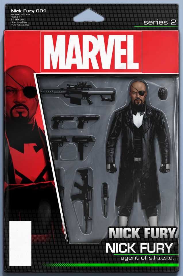 Nick Fury #1 (Christopher Action Figure Cover)