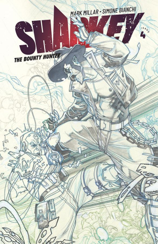 Sharkey, The Bounty Hunter #4 (Sketch Bianchi Cover)