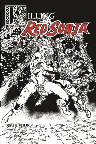 Killing Red Sonja #4 (7 Copy Castro B&W Cover)