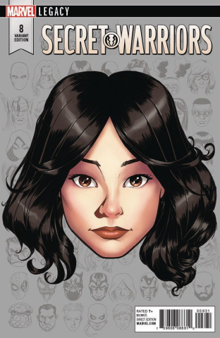 Secret Warriors #8 (McKone Legacy Headshot Cover)