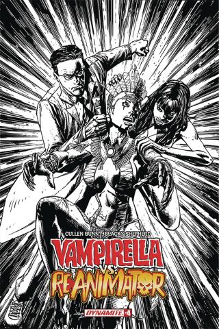 Vampirella vs. Reanimator #4 (20 Copy Desjardins B&W Cover)