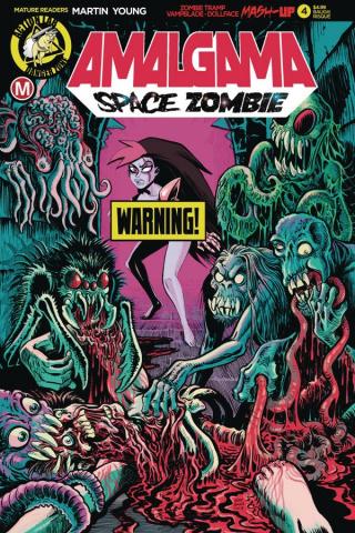 Amalgama: Space Zombie #4 (Baugh Risque Cover)