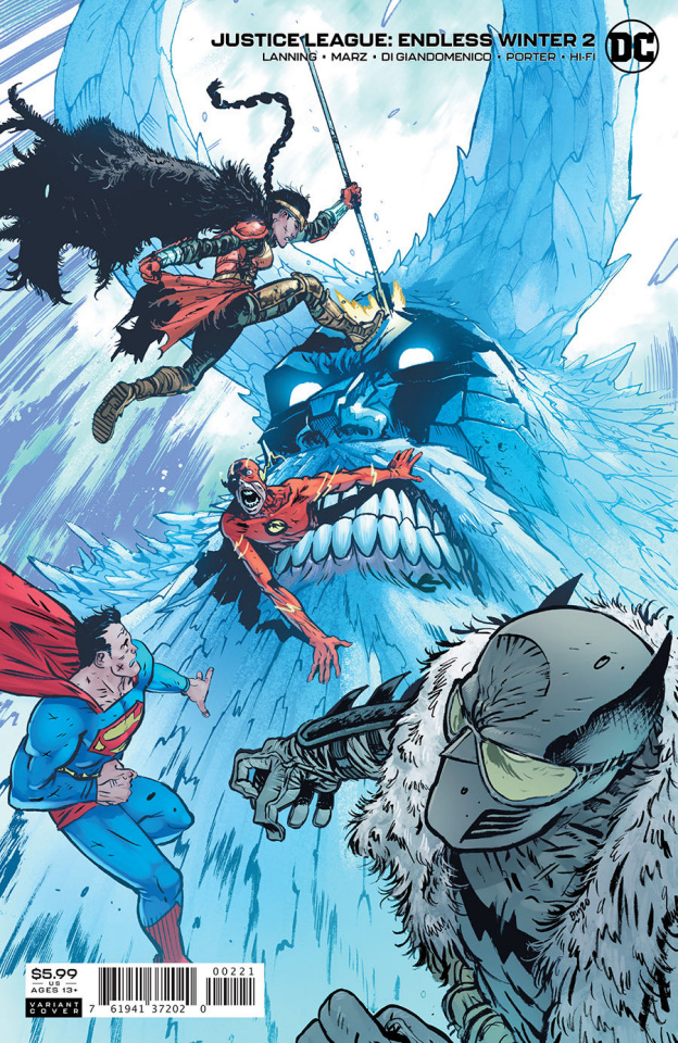 Justice League: Endless Winter #2 (Daniel Warren Johnson Card Stock Cover)