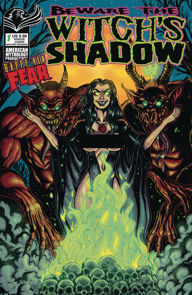 Beware the Witch's Shadow Happy New Fear #1 (Calzada Risque Cover)