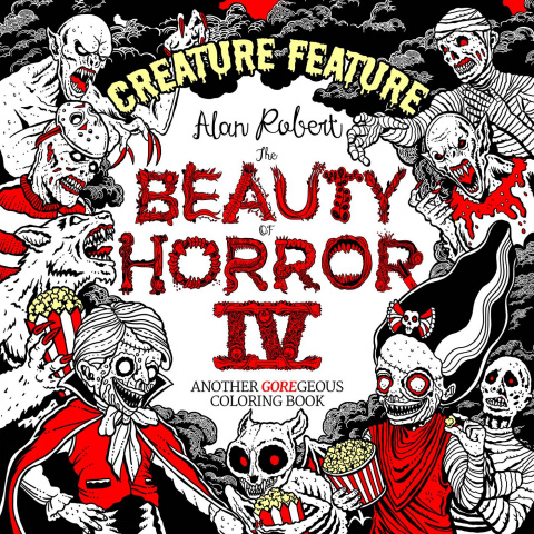 Beauty of Horror: A Creature Feature Coloring Book