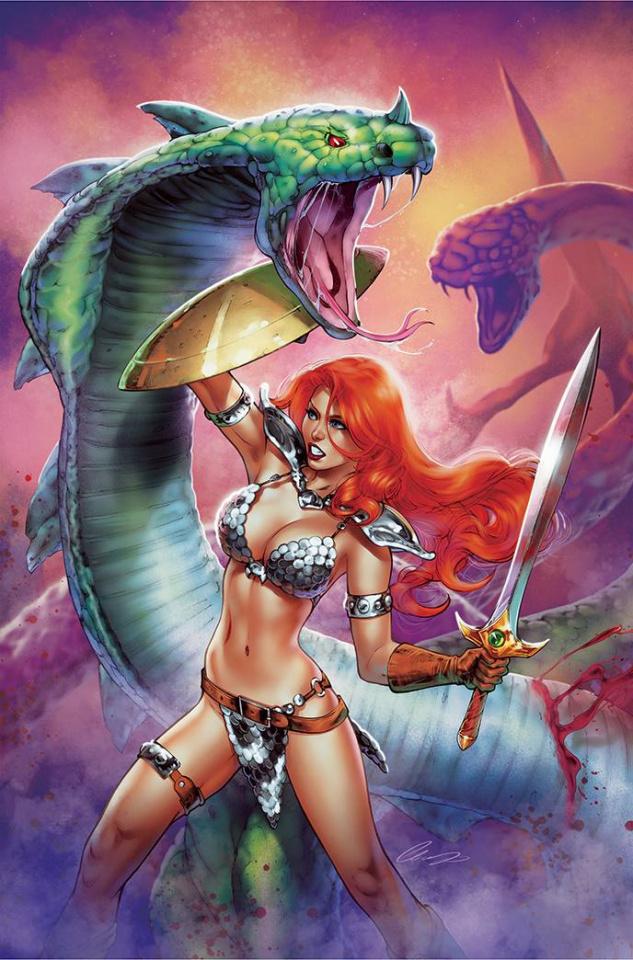 The Invincible Red Sonja #3 (7 Copy Chatzoudis Virgin Cover)