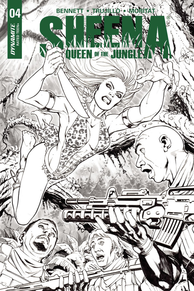 Sheena #4 (20 Copy Santucci B&W Cover)