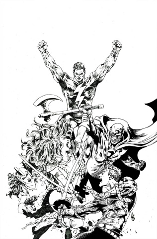 Red Sonja: The Superpowers #2 (40 Copy Lau B&W Virgin Cover)