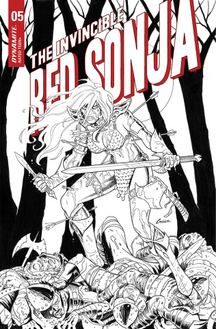 The Invincible Red Sonja #5 (15 Copy Conner B&W Cover)