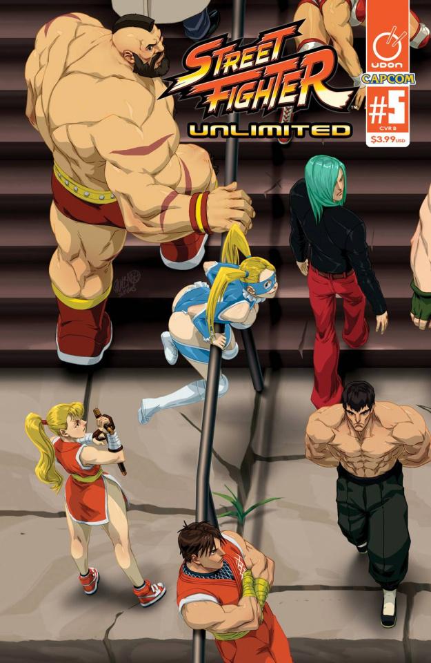 Street Fighter Unlimited #5 (Cruz Ultra Jam Cover)
