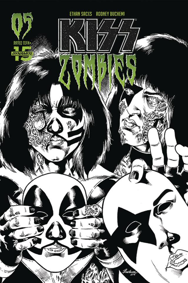 KISS: Zombies #5 (30 Copy Buchemi B&W Cover)