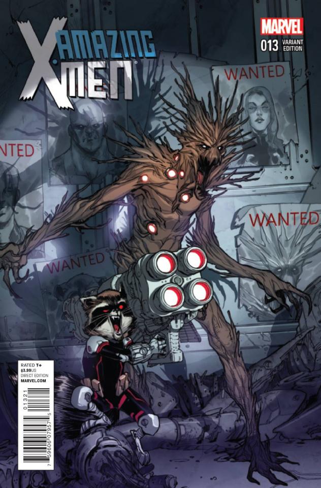 Amazing X-Men #13 (Rocket Raccoon Pichelli Cover)
