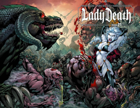 Lady Death #21 (Wrap Cover)