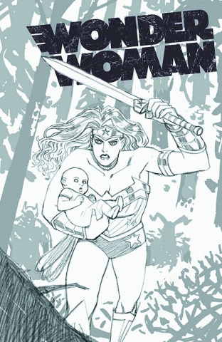 Wonder Woman #17 (Black & White Cover)