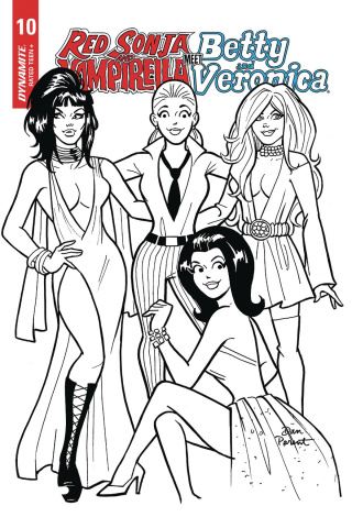 Red Sonja and Vampirella Meet Betty and Veronica #10 (10 Copy Parent B&W Cover)