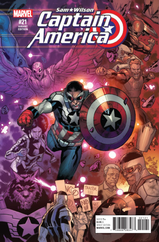 Captain America: Sam Wilson #21 (R.B. Silva Connecting Cover)