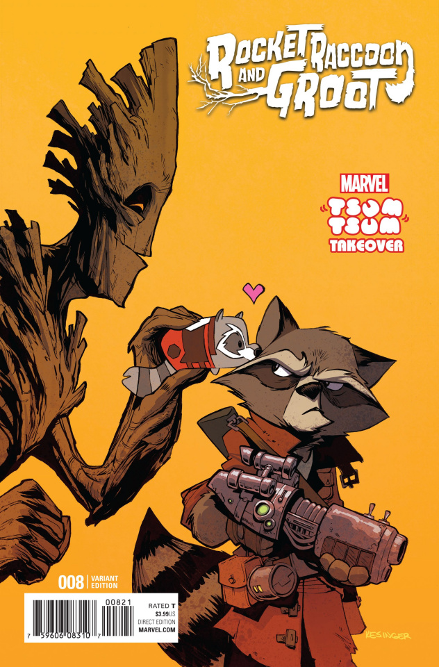 Rocket Raccoon and Groot #8 (Kesinger Tsum Tsum Cover)