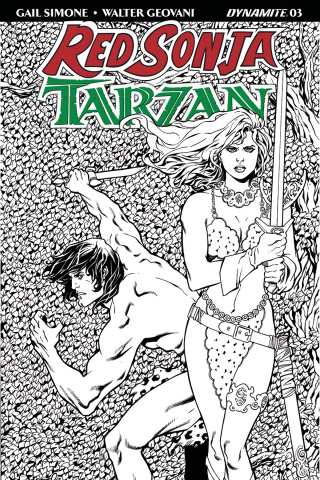 Red Sonja / Tarzan #3 (30 Copy Lopresti B&W Cover)