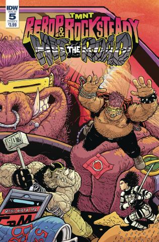 Teenage Mutant Ninja Turtles: Bebop and Rocksteady Hit the Road #5 (Pitarra Cover)