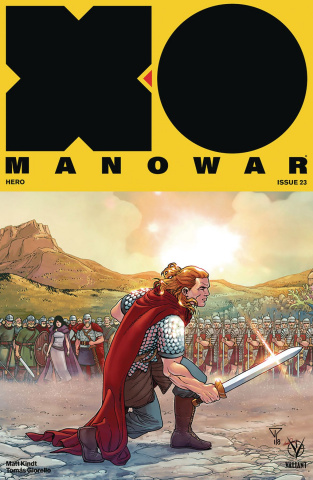 X-O Manowar #23 (20 Copy Interlocking Cover)