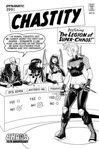 Chastity #3 (10 Copy Maine B&W Cover)