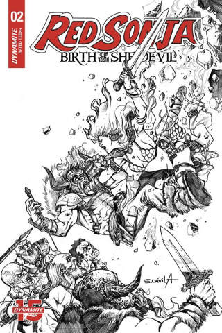 Red Sonja: Birth of the She-Devil #2 (20 Copy Davila B&W Cover)