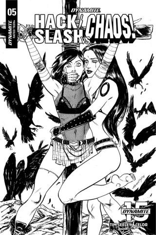 Hack/Slash vs. Chaos! #5 (25 Copy Seeley B&W Cover)