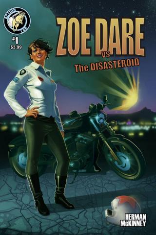 Zoe Dare vs. The Disasteroid #1 (Herman Cover)