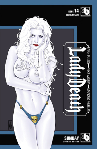 Lady Death #14 (Wondercon Sunday Cover)