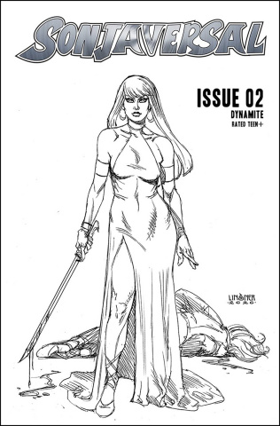 Sonjaversal #2 (20 Copy Linsner B&W Cover)