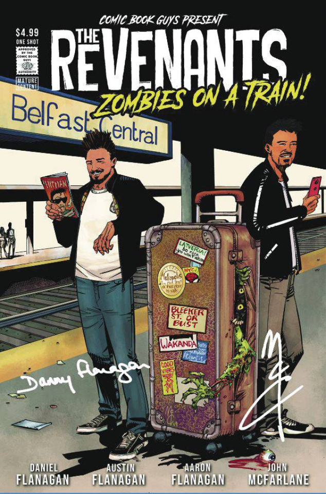 The Revenants: Zombies on a Train! (Signed McCrea Cover)