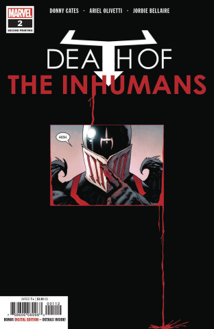 Death of the Inhumans #2 (Olivetti 2nd Printing)