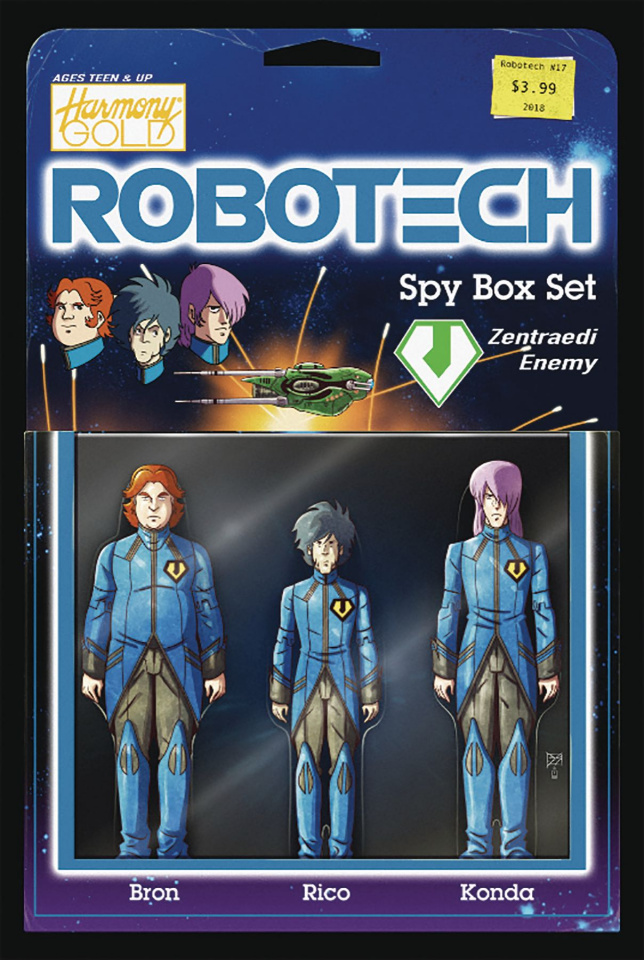 Robotech #17 (Action Figure Cover)