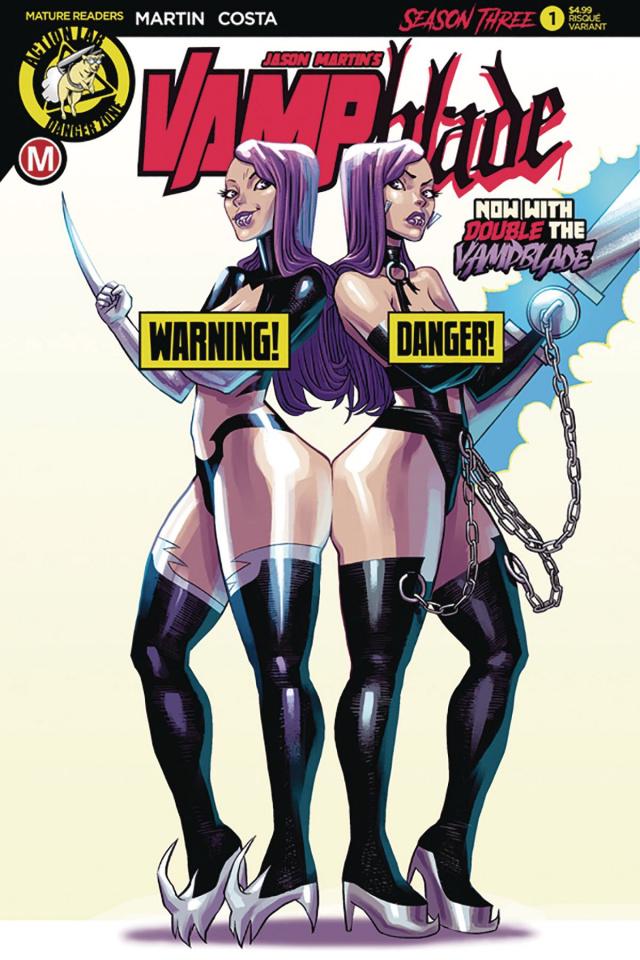 Vampblade, Season Three #1 (Costa Risque Cover)
