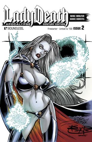 Lady Death: Apocalypse #2 (Century Firestarter Cover)