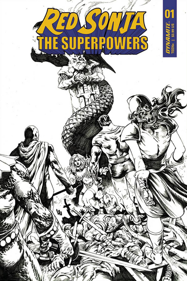 Red Sonja: The Superpowers #1 (15 Copy Lau B&W Cover)