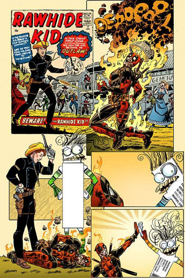 Deadpool #9 (Koblish Secret Comic Cover)