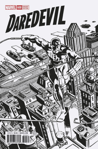 Daredevil #600 (Frank Miller Remastered B&W Cover)