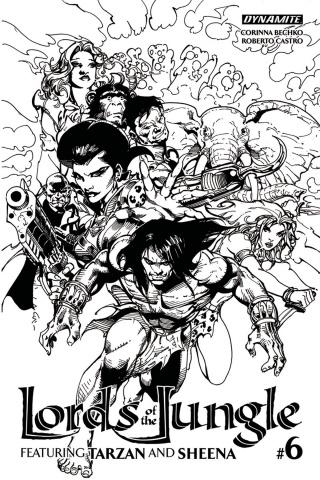 Lords of the Jungle #6 (10 Copy Castro B&W Cover)