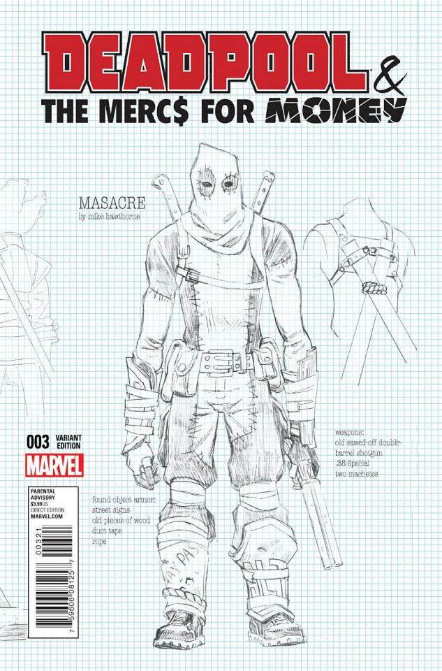 Deadpool and the Mercs For Money #3 (Hawthorne Cover)