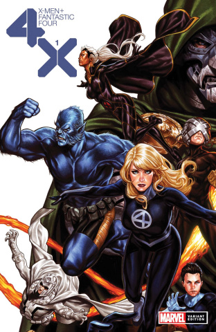 X-Men + Fantastic Four #1 (Brooks Cover)