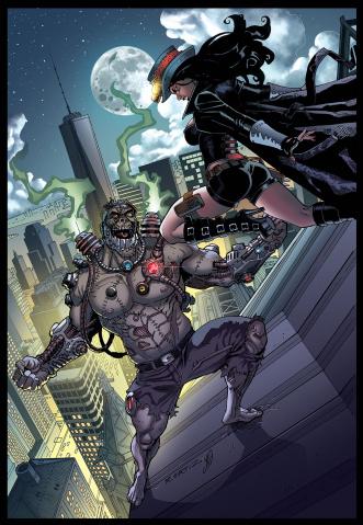 Grimm Fairy Tales: Van Helsing vs. Frankenstein #3 (Ortiz Cover)